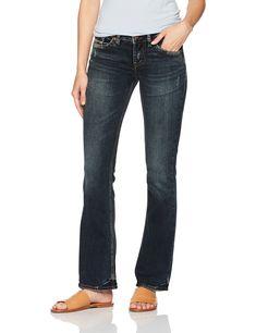 New Womens Indigo Blue Denim Destroyed Silver Suki Skinny Jeans Size 20 X 29