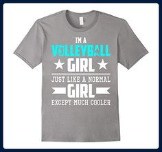 Mens Volleyball Girl Just Like Normal Girl But Cooler Shirt Large Slate - Sports shirts (*Amazon Partner-Link)