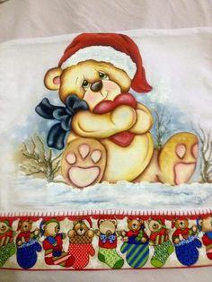 Christmas Colors, Christmas Cards, Christmas Ornaments, Tole Painting, Fabric Painting, Teddy Bear Pictures, Christmas Coloring Pages, Christmas Illustration, Cute Bears