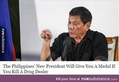 Meet the Popular World Leader Hating on Obama, the U. & the Pope: Oct. 17 -- Philippines' President Rodrigo Duterte has become notorious… Rodrigo Duterte, Shiga, Great Leaders, Foreign Policy, World Leaders, Citizen, Obama, Drugs, Popular