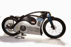 I knew I had to know more. It looks fast, retro but in the same time very modern. Spotted it at th. Vintage Motorcycles, Custom Motorcycles, Custom Bikes, Electric Bike Kits, Best Electric Bikes, Moto Bike, Motorcycle Bike, Cool Bicycles, Cool Bikes