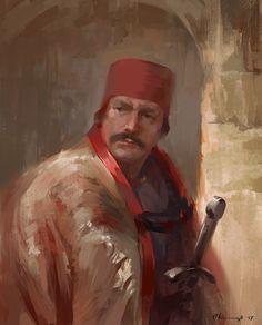 Men with sword, Pawel Kaczmarczyk on ArtStation at https://www.artstation.com/artwork/x4QxR