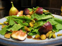 paleo fig and pistachio salad