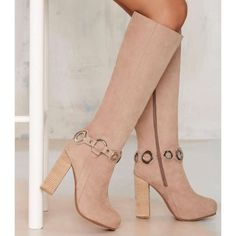 """🎀NASTY GAL🎀JEFFREY CAMPBELL🎀 Beige Nubuck Boot This size is SOLD OUT everywhere online! Boots are constructed of the softest beige nubuck & feature silver hardware at ankle, wooden stacked heel, hidden platform, zip closure at side, & leather lining. Rock 'em over skinnies or pair 'em w/a short little vintage number! Heel height: 4.75""""; Platform height: 1.5"""" PLEASE NOTE: BOOTS HAVE MINOR IMPERFECTIONS: Tried to show in pic; Minor rubbing around edges of hidden platform & leather ankle…"""