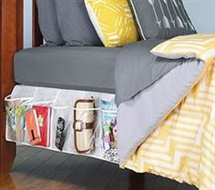 $25.95 @ dormCO: Bedskirt Pocket Organizer Bedside 8 pockets on each side of bed