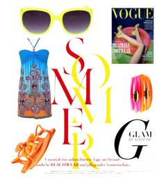 """""""Summer Vogue"""" by stateless4 ❤ liked on Polyvore featuring Melissa and Liza Schwartz"""