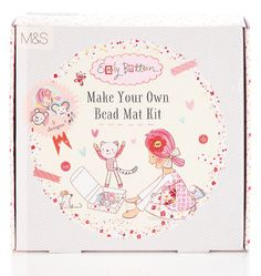 Buy the Emily Button™ Make Your Own Bead Mat Kit from Marks and Spencer's range. Little Girl Toys, Toys For Girls, Little Girls, Large Mats, Small Mats, Bead Kits, Make Your Own, Coasters, Character Design