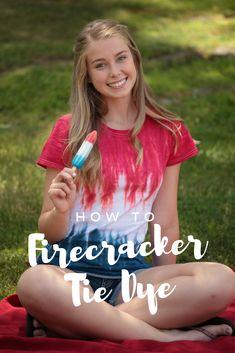 How to dye a Red, White and Blue Firecracker!   #firecrackertiedye #redwhiteandblue #patriotictiedye #tdys #tiedyeyoursummer #tuliptiedye #TDYS