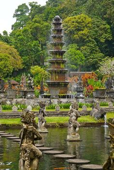 "frangipania: ""Gorgeous and peaceful Tirtagangga Water Palace, Amlapura, Bali / Indonesia (April "" Places Around The World, Oh The Places You'll Go, Places To Travel, Places To Visit, Around The Worlds, Ubud, Temples, Wonderful Places, Beautiful Places"