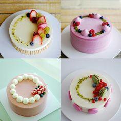 Mini Cakes, Cupcake Cakes, Cupcakes, Simple Cake Designs, Fresh Fruit Cake, Fancy Desserts, New Cake, Dessert Decoration, Cake Decorating Techniques