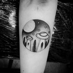 ufo tattoo - Cerca con Google                                                                                                                                                      More