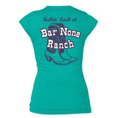 Kickin' back at Bar None: Custom Junior Fit Bella Sheer Longer Length Rib T-Shirt - Customized Girl #heydude #nickelodeon
