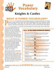 FREE, 16-page printable vocabulary packet for Kids Discover Knights & Castles!