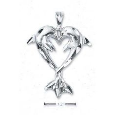 Diamond Cut Kissing Dolphin Pendant With Entwined Tails - JewelryWeb --- http://www.amazon.com/Diamond-Kissing-Dolphin-Pendant-Entwined/dp/B000YEDEBO/?tag=celebtrend-20