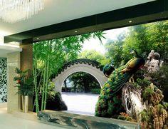 Настройка роскошные обои Свежей после сад 3d настенные фрески обои домашнего декора гостиной обои современный