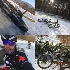 Friday is Bikeday! Did a nice ice ride today. You think this is dangerous? Your right! Kids don't do that at home! #iceride #thepainhunter #cannondale #scalpel #lefty #howihammer #winter #rutschigis #arschglatt #drcannondale #mtbclubzell