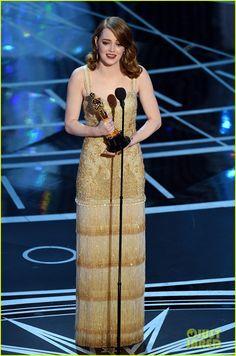Emma Stone Wins Best Actress at Oscars 2017 - Watch Her Speech! (Video)