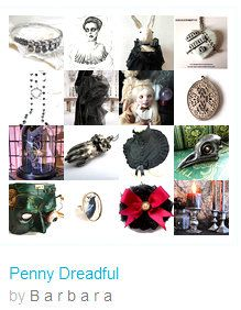 """☛http://www.etsy.com/shop/paroliro """"Penny Dreadful"""" features macabre, Victoriana, Halloween and all year worthy handmade jewelry and fashions in predominately black. [*Click on image to see all 16 images I chose]☚"""