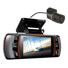 2.grabadora de cámara de vídeo cámara de la rociada del coche de la lente dual 1080p del dvr de la visión nocturna de 7 pulgadas