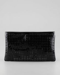 Accessory: Black Studded Clutch Bag by Christian Louboutin. $995.