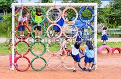 Playground Made from Recycled Tires - kids activities / Outdoor Fun
