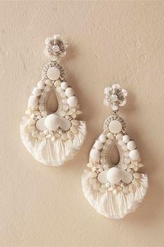 Earrings statement earrings white summer festival wear big style