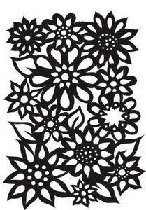*Dyan Reaveley Stencil 5 X 8 FLOWER MEDLEY Dylusions DYS38375