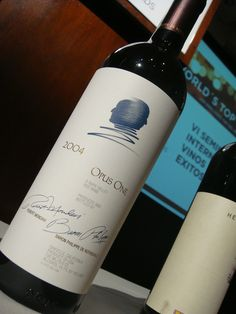 Wine tasted at the Judges Seminar: Opus One - Blend 2004. Opus One Winery. Oakville. USA.