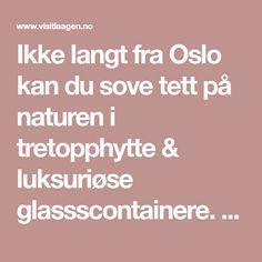 Ikke langt fra Oslo kan du sove tett på naturen i tretopphytte & luksuriøse glassscontainere. Kombiner overnatting & aktiviteter hos Laagen. Trips, Bucket, Travel, Nature, Viajes, Traveling, Destinations, Buckets, Aquarius