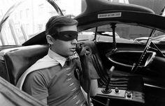 Burt Ward (Dick Grayson/Robin) on the set of Batman, 1966.
