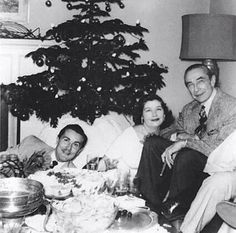 Ed Wood and Bela Lugosi in December 1954.can you imagine christmas at the ed wood house with bela what would that have been like wish i'd been there