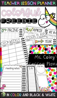 Discover recipes, home ideas, style inspiration and other ideas to try. Free Lesson Planner, Teacher Planner Free, Teacher Lesson Planner, Teachers Pay Teachers Freebies, Teacher Resources, Teacher Plan Books, Teacher Freebies, Bunt, Colorful