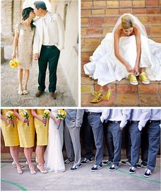 Love the idea of switching to Converse for the reception!