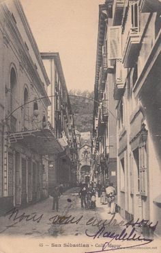 POSTAL: San Sebastian 1905. Calle Mayor - Foto 1