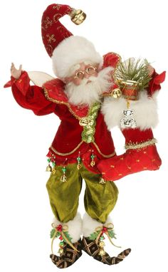 Mark Roberts 'Stocking Stuffer Fairy' Figurine (Limited Edition) available at Elf Christmas Decorations, Old World Christmas Ornaments, Christmas Fairy, Christmas Store, Magical Christmas, Vintage Christmas, Christmas Ideas, White Christmas, Mark Roberts Elves