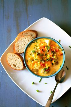 Cheesy Corn Chowder | The Curvy Carrot Cheesy Corn Chowder | Healthy and Indulgent Meals Dangling in Front of You