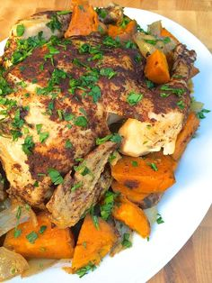 Slow Cooker Lebanese-Spiced Chicken and Vegetables - The Lemon Bowl