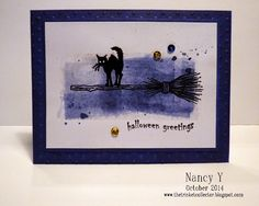 Just For Fun Rubber Stamps: Bird on a Pumpkin and a Bewitched Cat