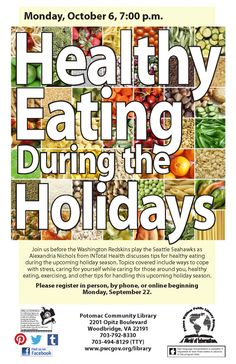 Library Graphic Design - Healthy Eating During the Holidays at Potomac