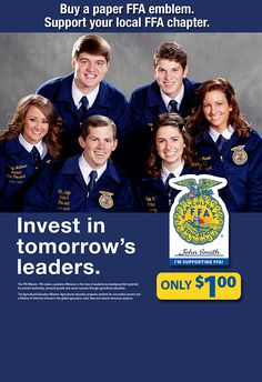 Buy a paper FFA emblem at Southern States Cooperative and help support both local and national FFA programs.