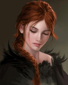 Girl with red hair. Face 12 by sandara - Fantasy Artwork - # Fantasy Women, Fantasy Girl, High Fantasy, Fantasy Princess, Fantasy Characters, Female Characters, Book Characters, Fictional Characters, Character Concept