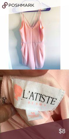 Light Pink Romper Light pink romper; worn once. Willing to negotiate. Dresses