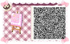 Animal Crossing: New Leaf & HHD QR Code Paths Star crossed Pastel  boarder #3