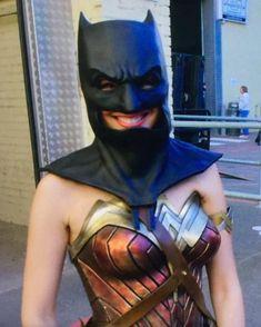 Gal Gadot wearing the bat cowl She is so precious! Tags: #wonderwoman #galgadot #wondergal #gotham #henrycavill #thedarkknight #batman #benaffleck #dianaprince #dianaofthemyscira #wonderwomancosplay #ezramiller #harleyquinn #margotrobbie #marvel #dccomics #dceu #infinitywar #jasonmomoa #aquaman #arthurcurry #flash #captainamerica #josswhedon #zacksnyder #bvs #girlpower #justiceleague #jl #batmanvsuperman