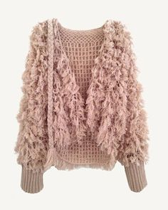 Fashion: trends, outfit ideas, what to wear, fashion news and runway looks Diy Crochet And Knitting, Crochet Coat, Crochet Cardigan, Crochet Clothes, Coats For Women, Clothes For Women, Fringe Cardigan, Vest Pattern, Crochet Fashion