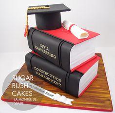 Concordia Civil Engineering Graduation cake - My Favorite Worlds College Graduation Cakes, Graduation Decorations, Graduation Party Decor, Grad Parties, Graduation Treats, Graduation Cupcakes, Engineering Cake, Civil Engineering, Chemical Engineering