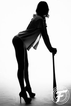 Boudoir photo shoot lingerie photography | baseball silhouette black and white | Firestine Photography | Atlanta, Ga