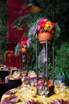These inspirational wedding reception ideas from ArtSize are loaded with flawless colors and interesting aesthetics. Here are a few of our favorite wedding reception ideas for you to fall in love with. Mexican Wedding Decorations, Mexican Themed Weddings, Party Decoration, Table Decorations, Mexican Beach Wedding, Wedding Reception Ideas, Wedding Table, Reception Table, Charro Wedding