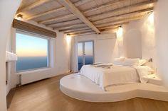Wooden floor and ceiling & Circular bed floor