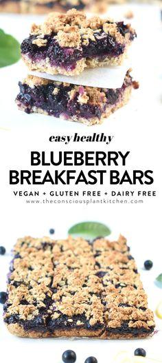 Oatmeal Bars Healthy, Homemade Oatmeal Bars, Homemade Breakfast Bars, Easy Oatmeal Bars, Blueberry Oatmeal Bars, Vegan Oatmeal, Gluten Free Oatmeal, Oatmeal Cups, Blueberry Quinoa Breakfast Bars